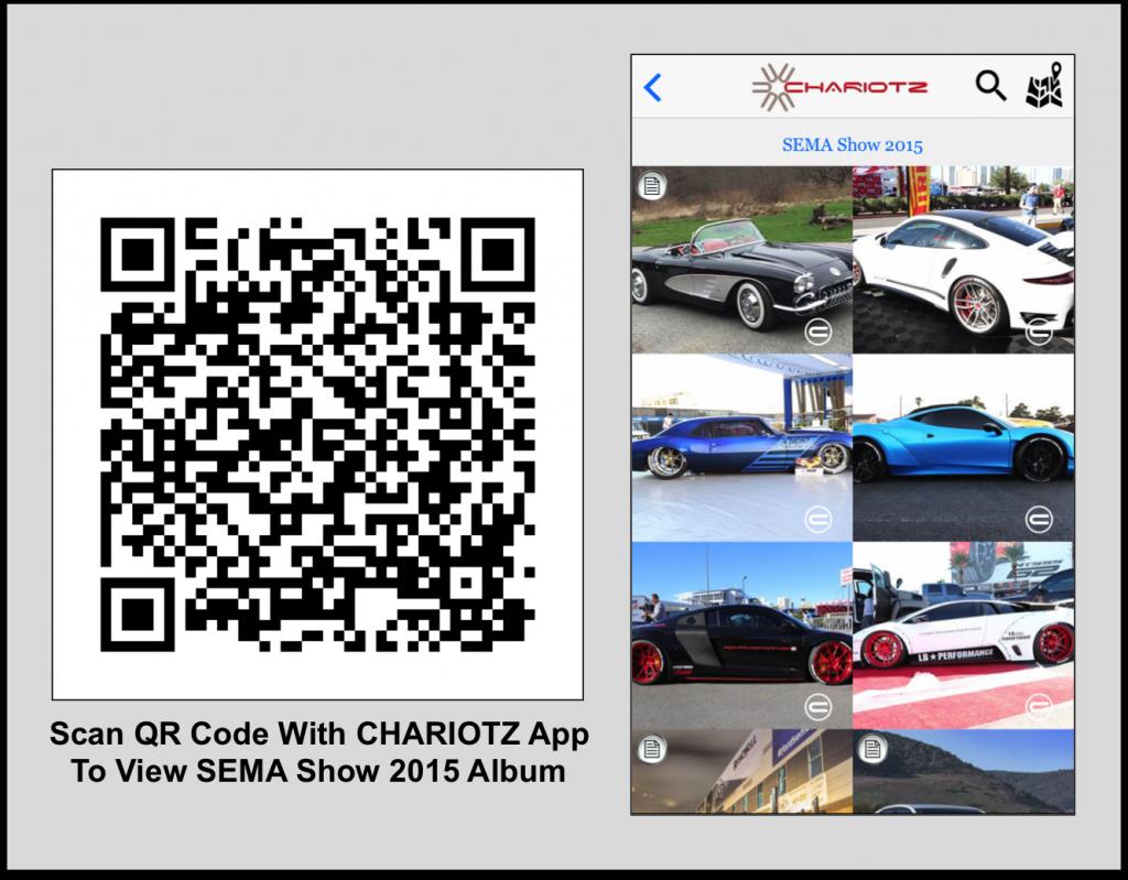 QR Code for 2015 SEMA Show
