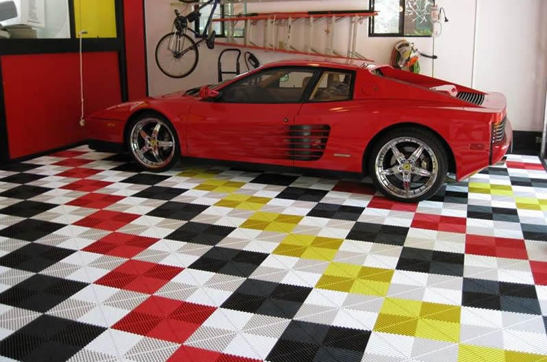 Garage tile flooring options