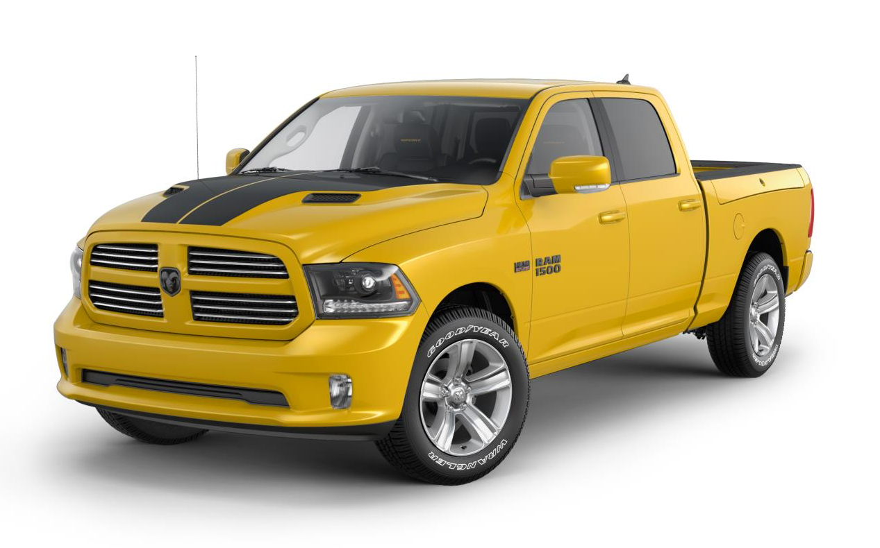 the buzzworthy 2016 ram 1500 stinger yellow sport. Black Bedroom Furniture Sets. Home Design Ideas